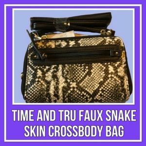 Time & Tru  Faux Snake Skin Cross body Bag